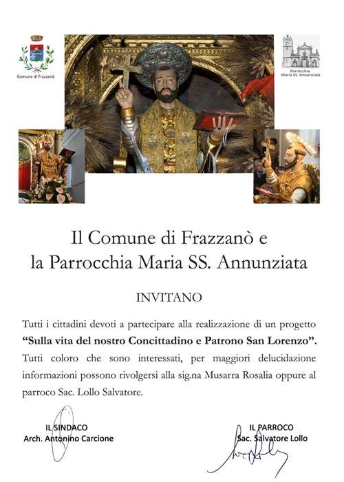 Manifesto Sulla vita del nostro Concittadino e Patrono San Lorenzo