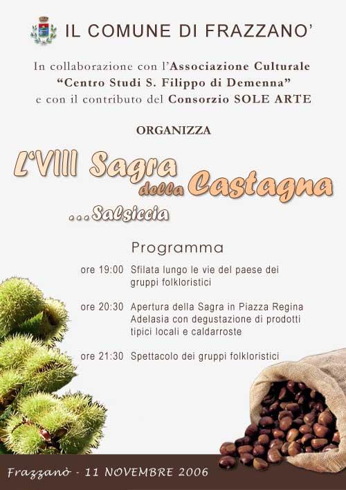 Manifesto Sagra della Castagna 2006
