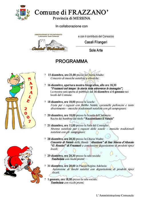Programma Manifestazioni Natalizie 2007